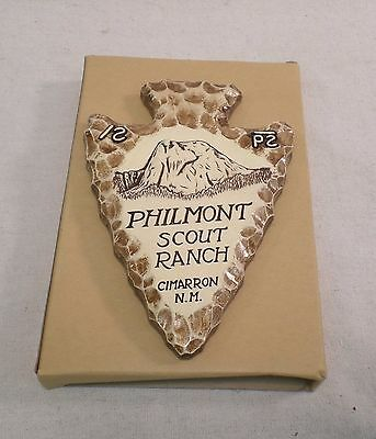 BSA 1970's Philmont Scout Ranch Arrowhead Shaped Clay Wall Plaque