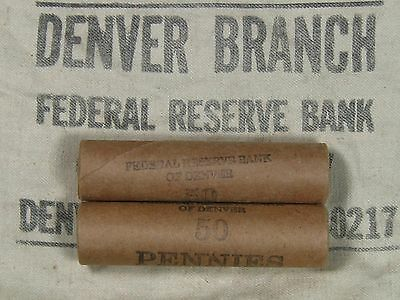 TWO UNSEARCHED - Lincoln Wheat Penny Rolls 50 Cents - 1909 1958 P D S