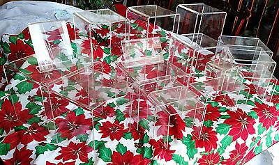 16 CLEAR ACRYLIC PEDESTAL DISPLAY RISERS PRODUCT STANDS tier show table