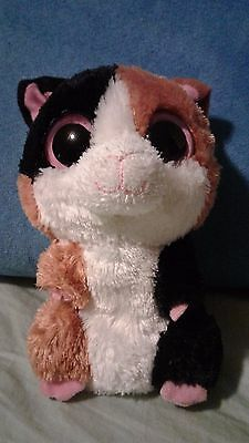 """Ty Beanie Boo - 6""""- Nibbles the Hamster  - 2011 - Rare and Retire - no hang tag"""