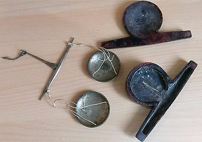 30# Old Antique Islamic, Ottoman small Equal Arm Balance Hanging Scales Brass