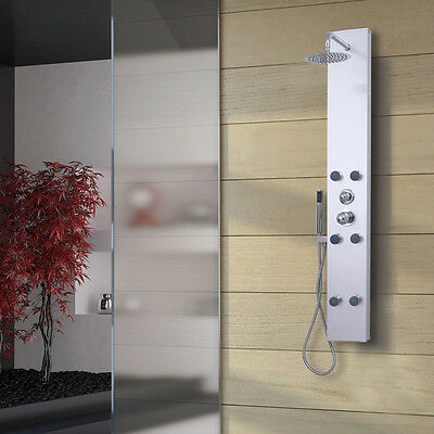 Moden Complete Shower Panel Unit Squar With 6 Hydro Massage Body Jets MODEL:P216