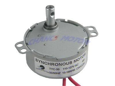 AC 110V 15/18RPM CW/CCW TYC-50 Synchronous Gear Motor Electric Fireplace