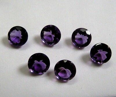 Lot of 25 Piece Natural Amethyst 3x3 MM Round Cut Faceted Loose Gemstone