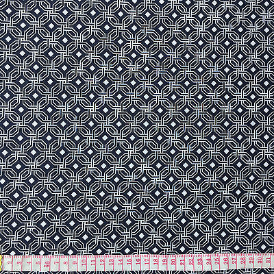 Cotton Quilt fabric Print fabric (Gray octagon pattern)per meter