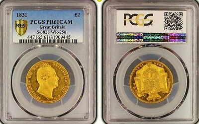 1831 William Iv Gold Proof Three Coin Set Ultra Rare.pcgs Certified