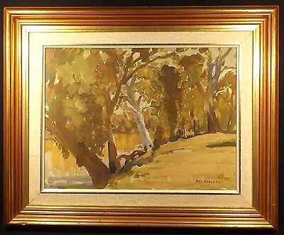 Oil On Board Painting The Diamantina River N.south Australia Signed Max Ragless.