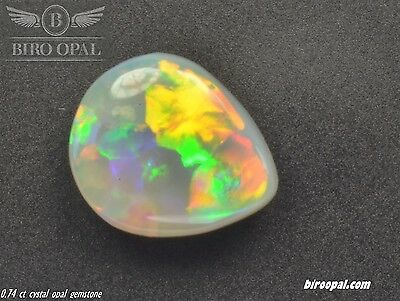 0.74 ct solid natural crystal opal from Lightning Ridge, Australia by Biro Opal