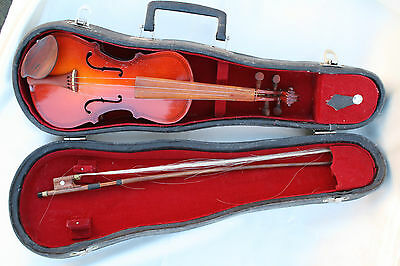 Vintage Violin with Bow in Original Box