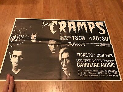 The Cramps - Rare Show Poster - Punk! - The Misfits - T.S.O.L. - The Clash