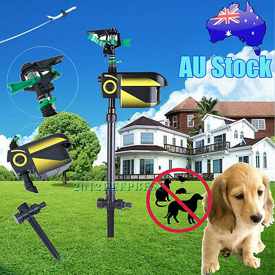 Solar ScareCrow Motion Activated Water Animal Repeller Deterrent Sprinkler 2017