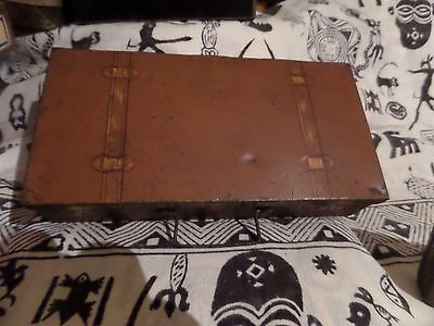 Vintage Suitcase / Trunk Biscuit-Sweet Tin No Maker