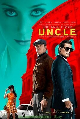MAN FROM U.N.C.L.E. MOVIE POSTER Final DS 27x40 HENRY CAVILL 2015 aka UNCLE