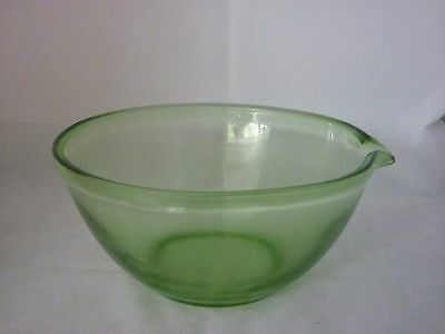 Lovely Large Depression Glass Lipped Mixing Bowl Small 23cmD Great Condition