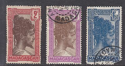Madagascar 1930 3 Stamps Used