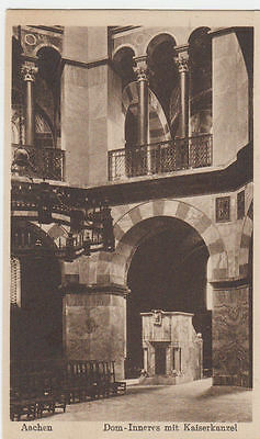 Vintage Postcard Of The Interior Aachen Cathedral Germany Unposted.