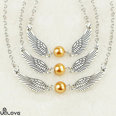 4PC Harry Potter Angel Wings Jewellery Golden Snitch Style The Deathly Hallows