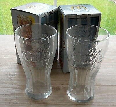 Two McdDonalds Diet Coke Glasses Boxed