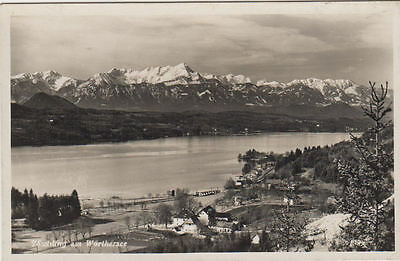 Vintage Postcard With A View Over Worthersee Austria Unposted.