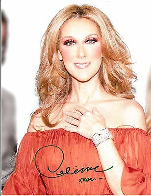 Celine Dion Hand Signed Autograph Photo 8X10 Authentic..amazing With Coa