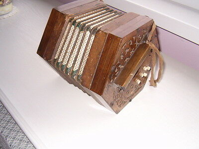 Antique concertina rescued from an old ship breaking yard