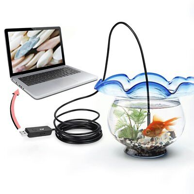 5M 6 LED USB Waterproof Endoscope Borescope Snake Inspection Video Camera 7mm LZ