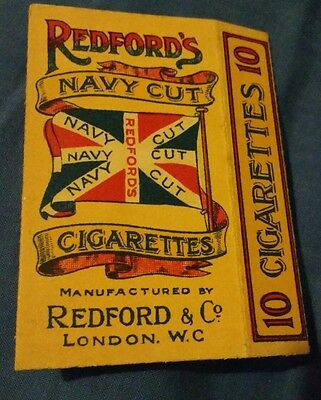 Vintage Redford's Navy Cut cigarette packet superb collectible