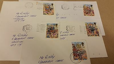 FRANKED USED GB STAMPS, LORD MAYORS SHOW LONDON, ISSUED ON 17th OCTOBER 1989