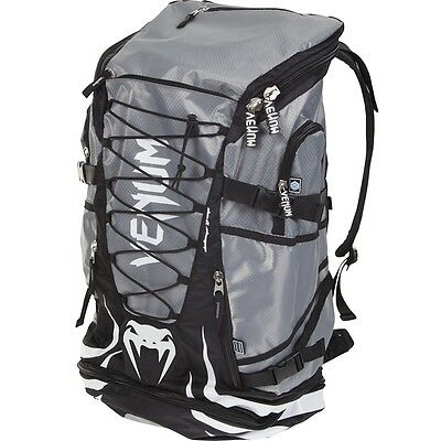 VENUM CHALLENGER XTREME  BLACK/GREY PRO BACKPACK - MMA BJJ  Rucksack Bag