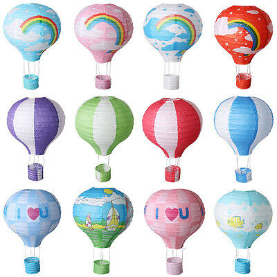 "12"" 30cm Multicolor Hot Air Balloon Paper Lantern Wedding Party Decoration"