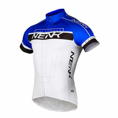 Sobike NENK Cooree Cycling Short Jersey Short Sleeve White Blue