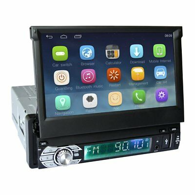 """7""""Android5.1 1 Din Car Stereo Radio Motorized Bluetooth GPS WIFI Sat Nav DS"""