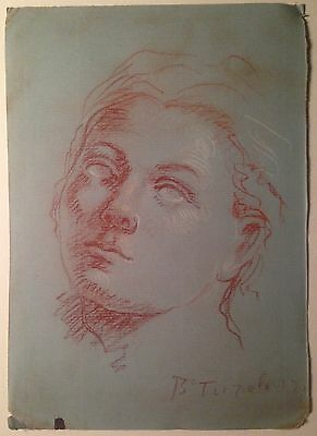 Old Italian Master Portrait of a young man Signed Tiepolo