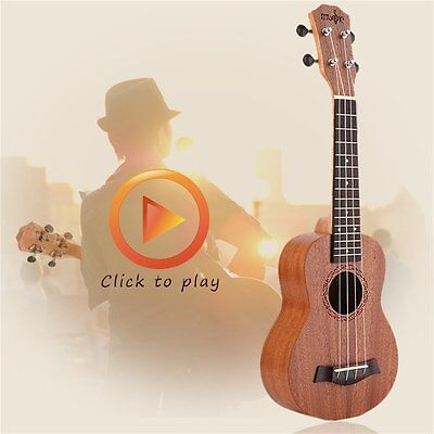 21 Inch High Quality Musical Wood Material Instrument Soprano Ukulele PVX