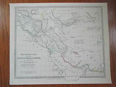 1831~Antique Engraved Map~Hand Coloured In Outline~Ancient Persia~Asyria~Media