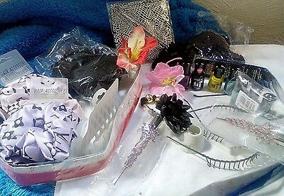 Joblot of nail varnish and hair accessories 27x items