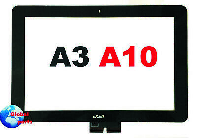 Ricambio Vetro Touch Screen Nero Acer Iconia A3  a10 Digitizer + kit Tools