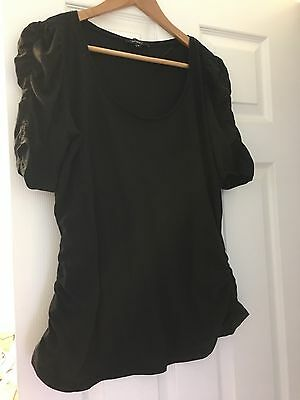 New Look Black Size 16 Maternity Top
