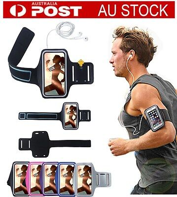 AU For Phones Adjustable Universal Gym Exercise Running Sports Armband Pouch