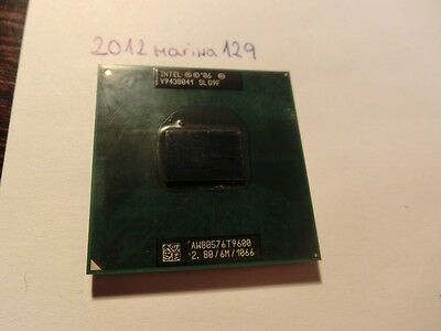 CPU INTEL Core 2 Duo T9600 2,8 Ghz/6M/1066 Socket P Mobile SLG9F