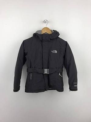 The North Face Girls Kids Hyvent 550 Goose Down Jacket Coat Small S Age 7/8 Grey