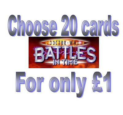 Doctor Who EXTERMINATOR cards 001-275 only 5p each common & rare Battles in time
