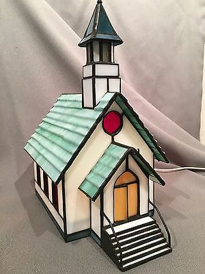 Stained Glass Forma Vitrum 1993 #980 Tiny Town Church Vitreville  Bill Job
