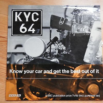 """KYC64 - Know Your Car (from BBC TV series) 7"""" single (1964)"""