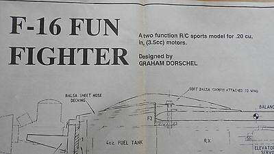 Model Aircraft Plans - F16 Fun Fighter