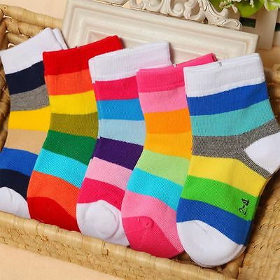 1 Pair Lovely Candy Color For Boys Girls Soft Cotton Socks