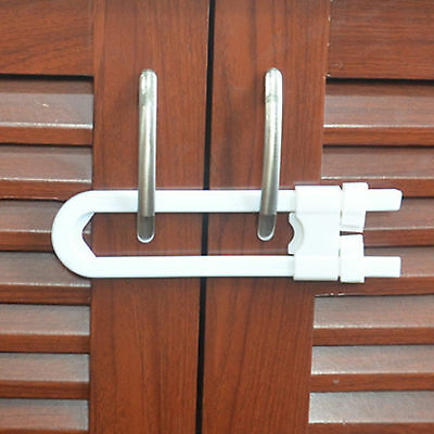Baby Toddler Children Kids Home Safety Cupboard Door Handle Cabinet U Lock