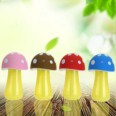 Home Aroma LED Humidifier Mushroom humidity Air Diffuser Purifier Atomizer Cute
