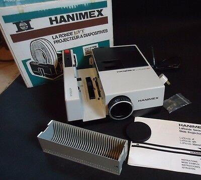 Hanimex EFT 35mm Slide Projector with instructions and magazine