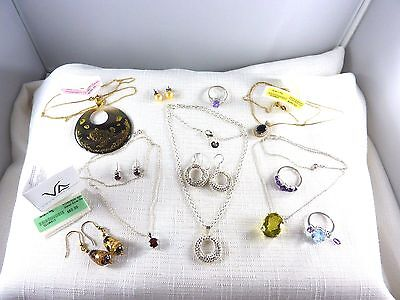 Bulk lot of Defect Silver, Gold plate, Murano Glass, Gemstone Jewellery X10